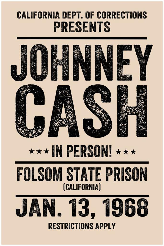 Johnny Cash at Folsom Prison poster
