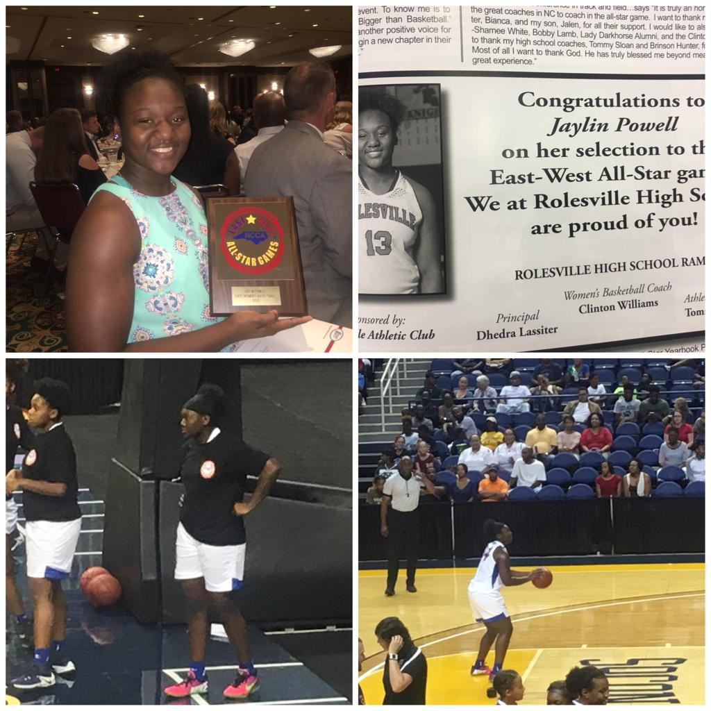 Jaylin Powell was the 2016-2017 GNRC POY.  She also was selected to the NC/SC game and the East West game.