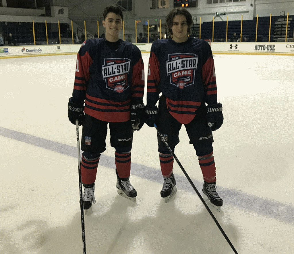 Pavel Karasek and Spencer Korona at the 2018 USPHL All-Star Game