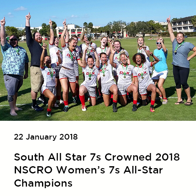 South All Star 7s Wins NSCRO Women's 7s All-Star Championship