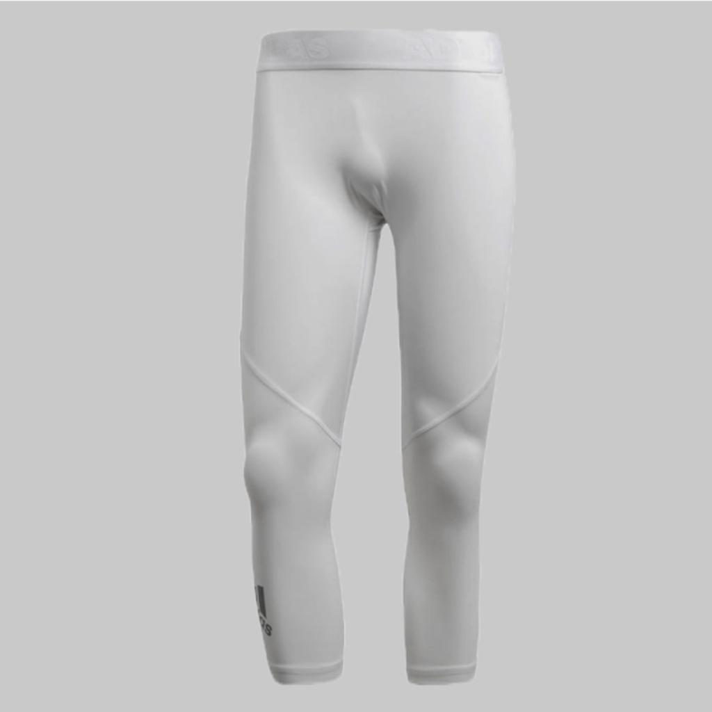 Mpls Lakers gear, White Adidas Alphaskin Sport 3/4 Tights