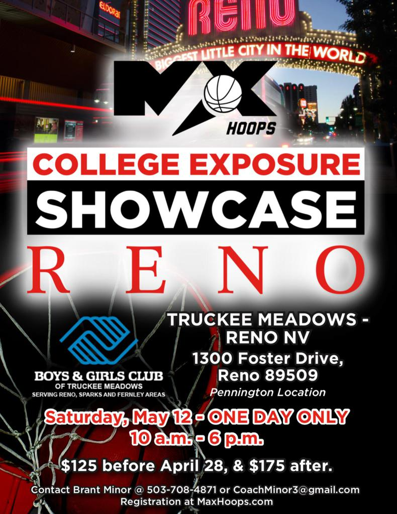 Reno Basketball Basketball Showcase College Exposure
