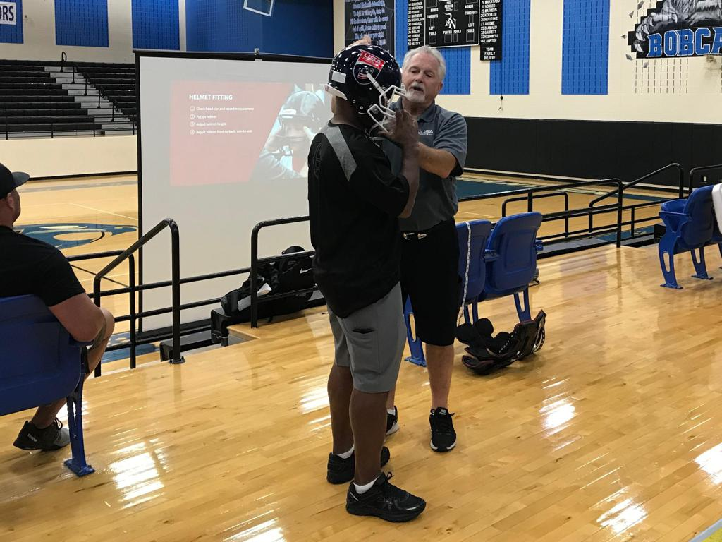 USA Heads Up Football Training on 7-28-2018