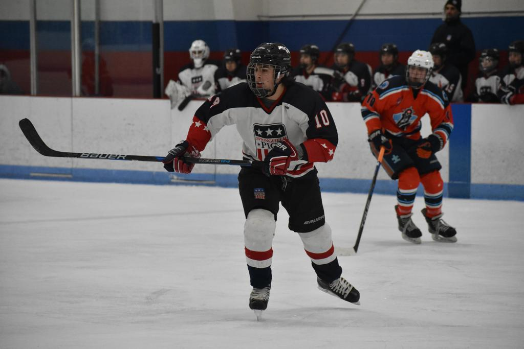 Kyle Nelson skates for the Pics 16U team.