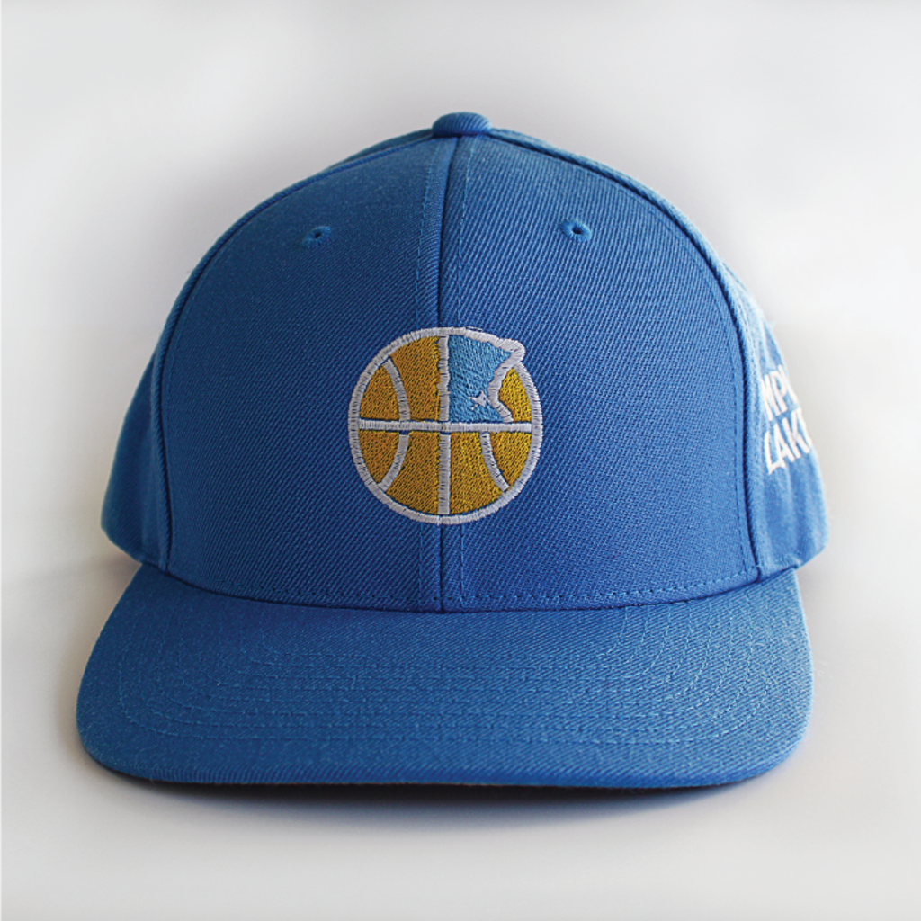 Mpls Lakers Blue Baseball Hat Front View
