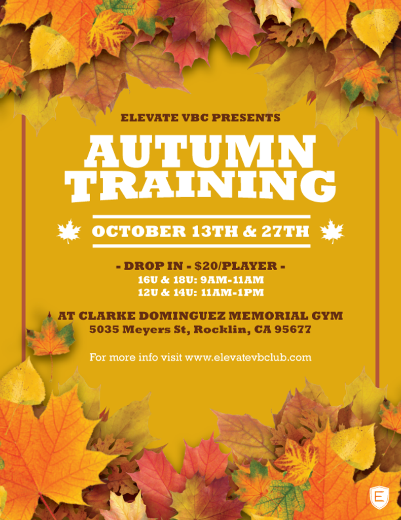 Autumn Training Session