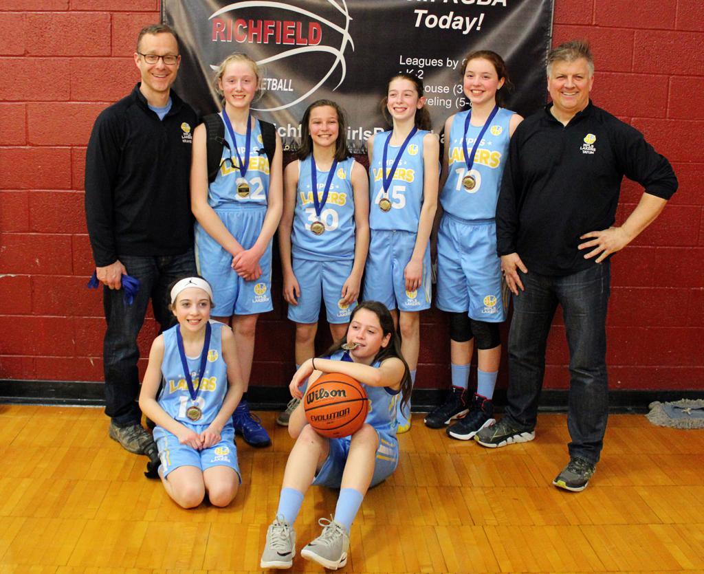 Girls 7th Grade Gold Take 1st Place at Richfield Spartan Shootout