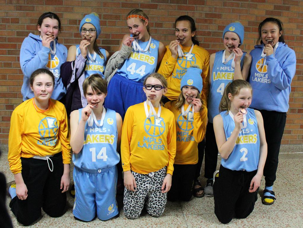 Girls 7th Grade Blue Take 3rd Place at Richfield Spartan Shootout