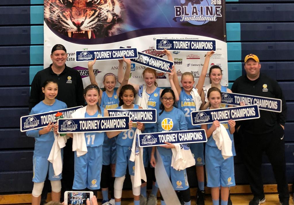 Girls 6th Grade Gold Take 1st Place at Blaine Invitational