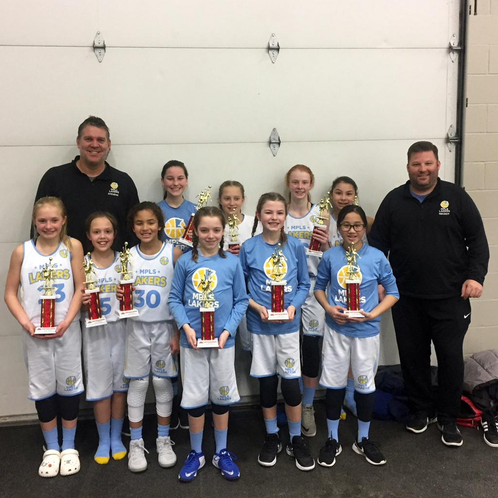 Girls 6th Grade Gold Take 2nd Place at St Cloud Quarry Classic