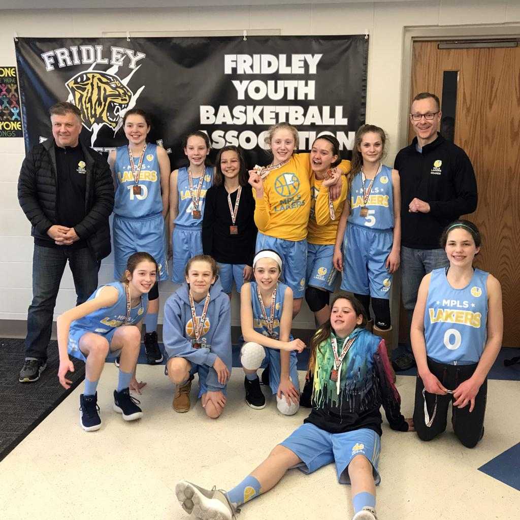 Girls 7th Grade Gold win Consolation at Fridley