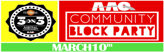 Block Party 3 on 3 March 10 Bus Routes
