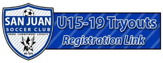 U15-U19 Tryout Registration Link