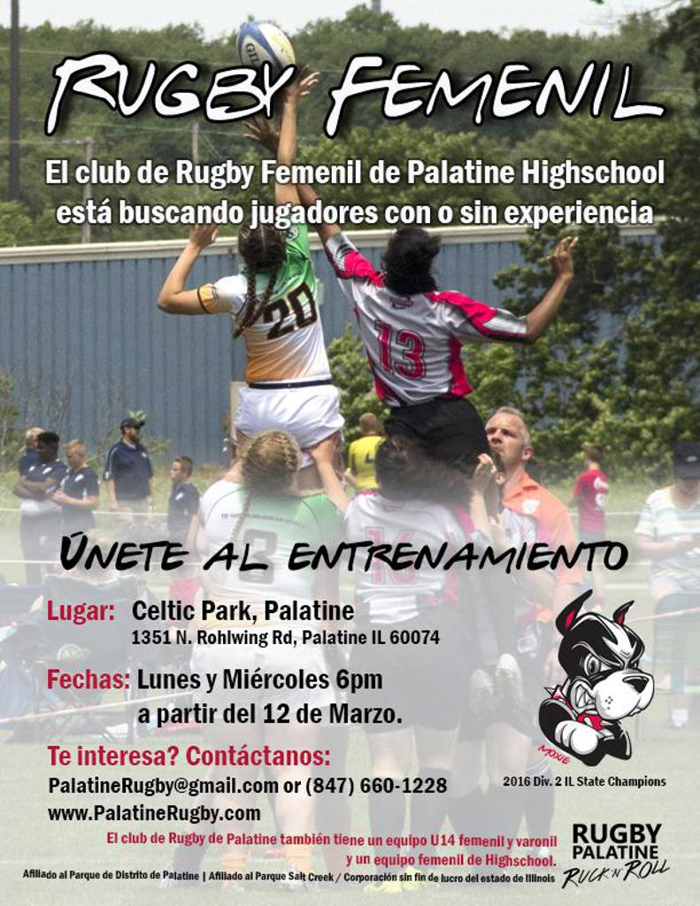 High School Girls Spring Flyer in Spanish