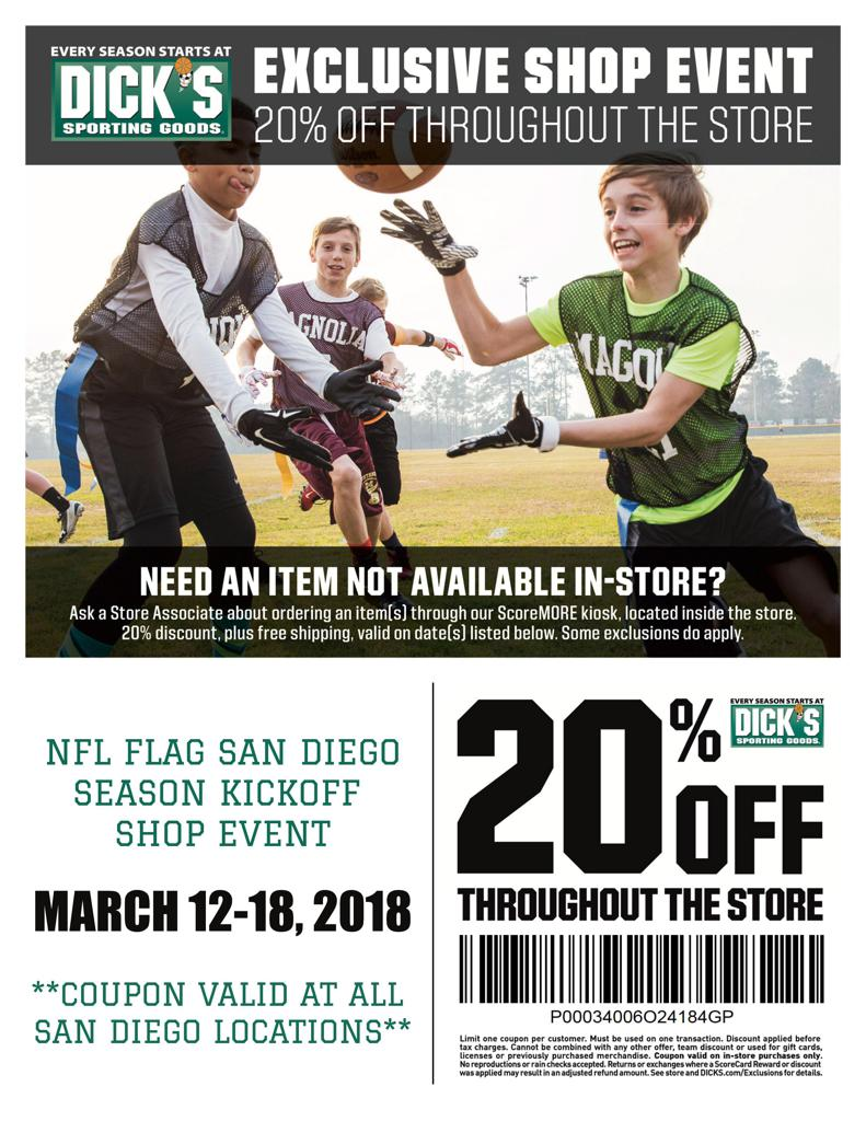 Dick's Sporting Goods 20% off