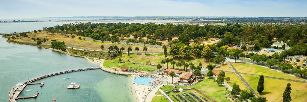 Steampacket Gardens is the bayside venue for IRONMAN 70.3 Geelong