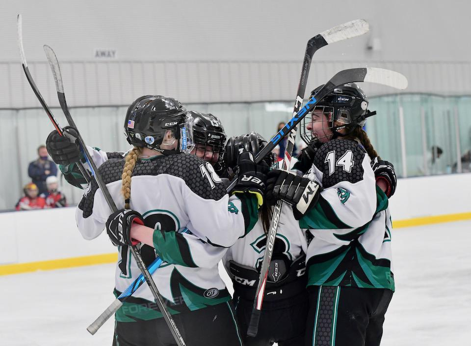 The Rocky Mountain Lady RoughRiders 14U team advanced to the championship game on May 3 and brought home a title with a 3-2 overtime victory. Photo by Steven Robinson, SportsEngine