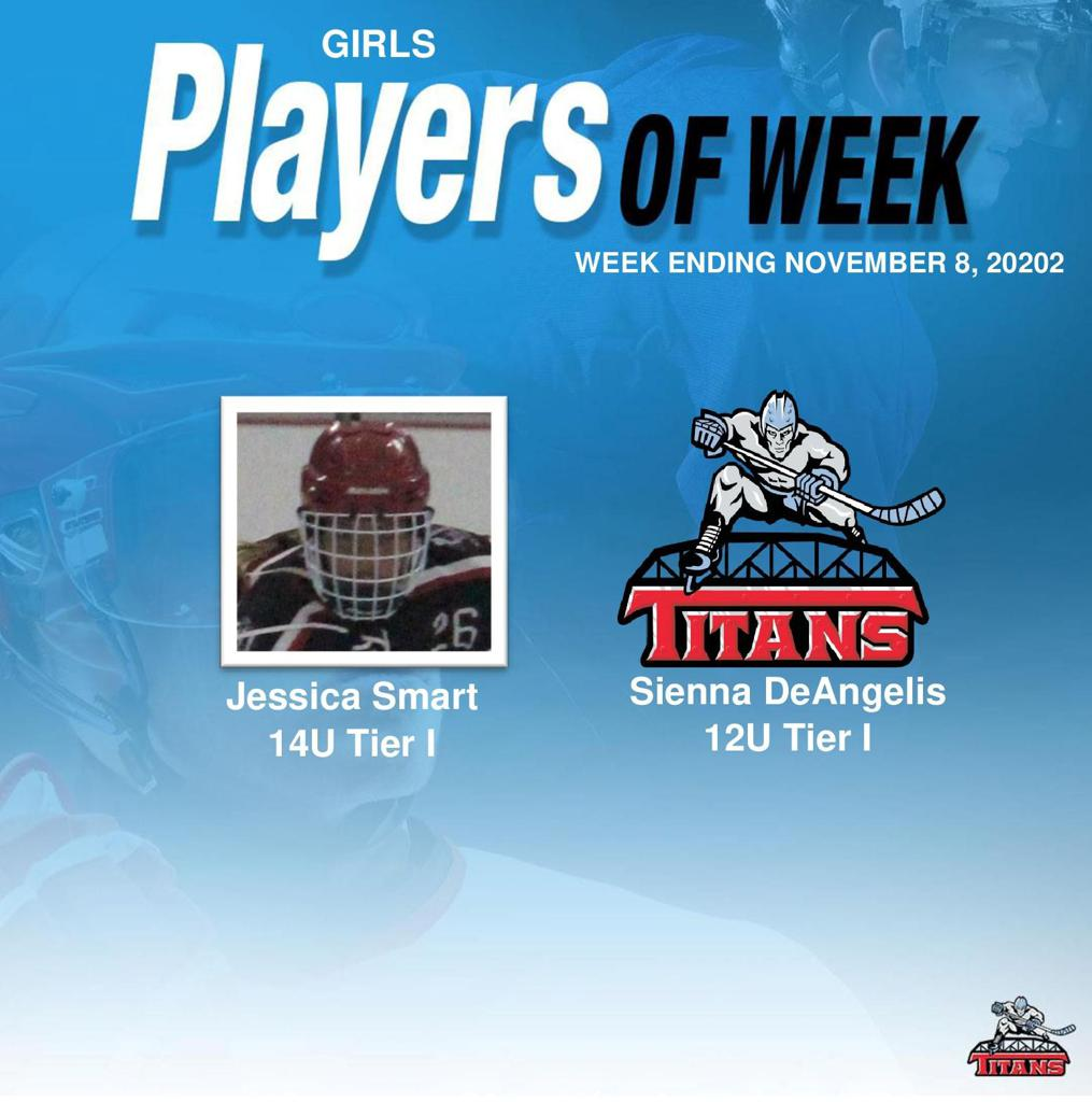 Titans announce Jessica Smart and Sienna DeAngelis as Girls' Players of the Week for Week Ending November 8