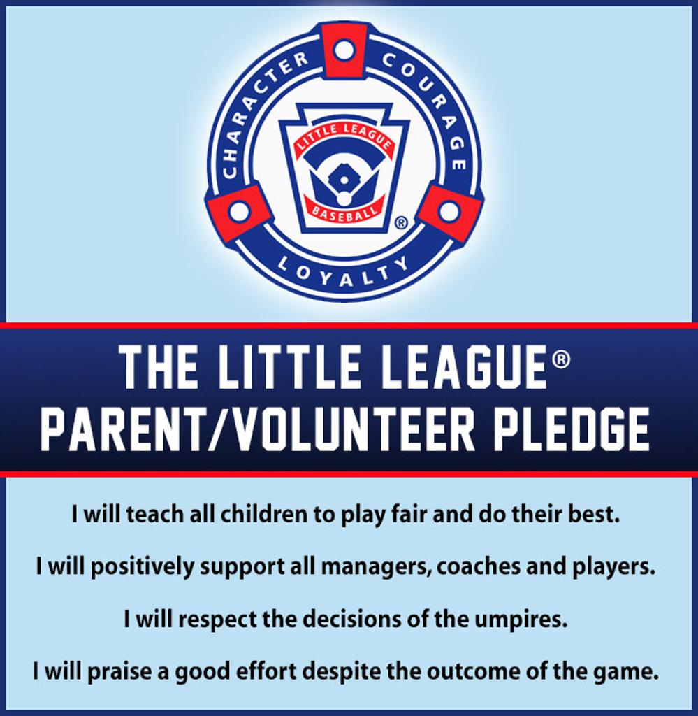 Little League Volunteer Pledge