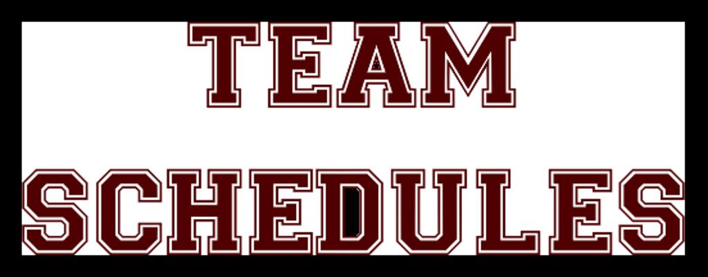 team schedules