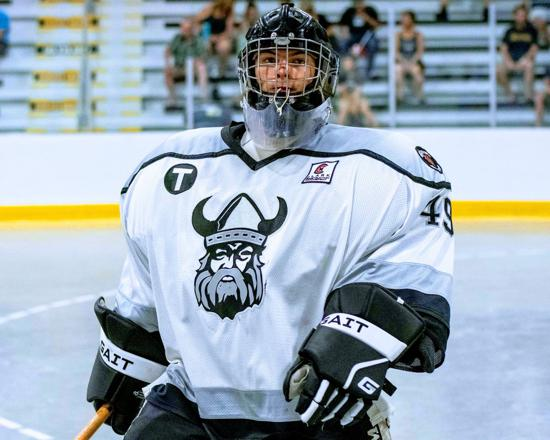 Congratulations to Goalie Rylan Hartley on winning the Chris Sanderson Award as the top goalie in Jr A lacrosse and being named as a first team all star