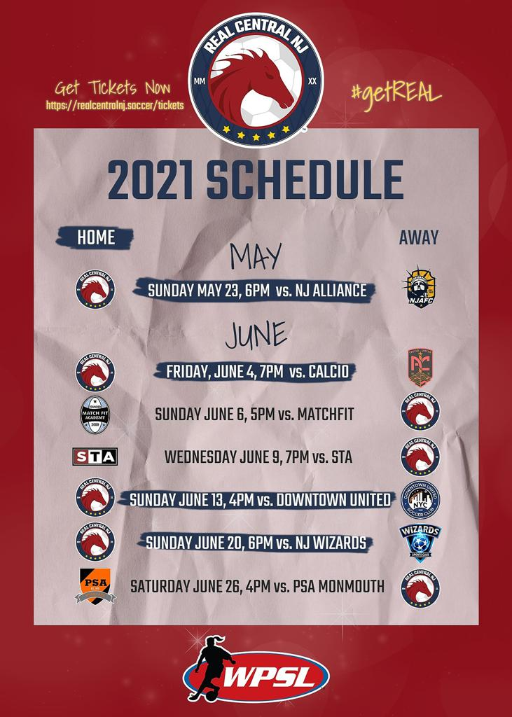 WPSL Southern Division Metro Conference Schedule
