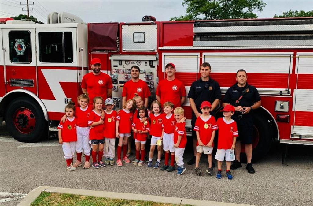 T-Ball Team #1 - Mentor Firefighterers Local 1845 - Managed by Lee Robinson