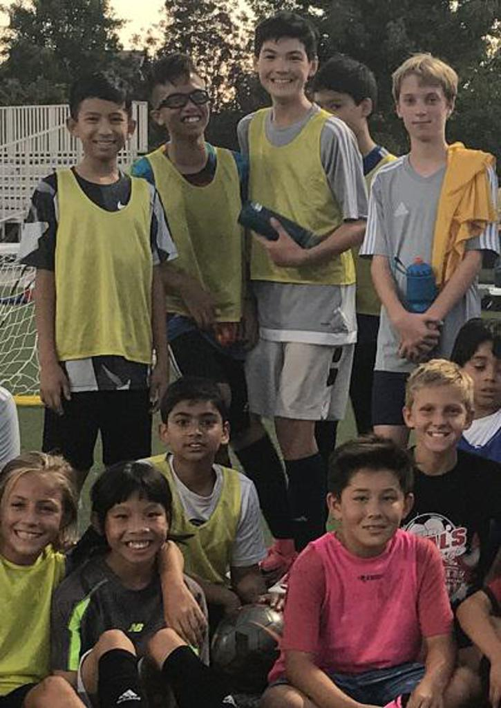 Youth soccer classes in San Ramon