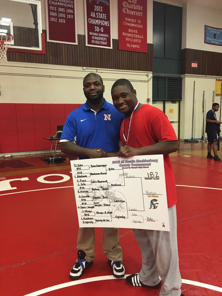 Congratulations to Eric Hudson, Jr. on winning 1st place at the 2015 Al Kessie Mecklenberg County Tournament