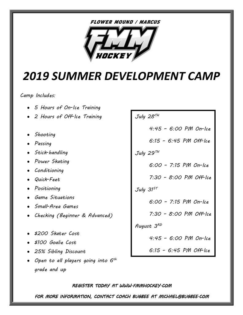 Summer Development Camp Information