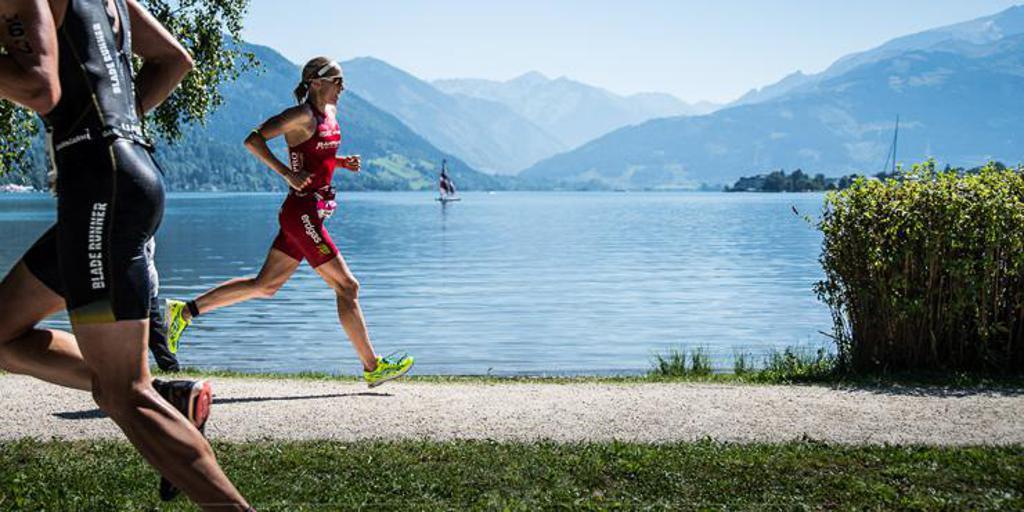 Switzerland's Daniela Ryf racing