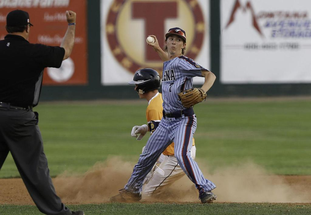 Helena Senators infielder Michael Hurlbert makes a throw to first base during a game against Great Falls in the Keith Sell Tournament on Friday. Gary Marshall, BMGphotos.com