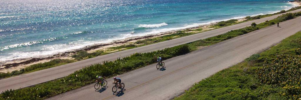 Scenic bike course at IRONMAN 70.3 Cozumel