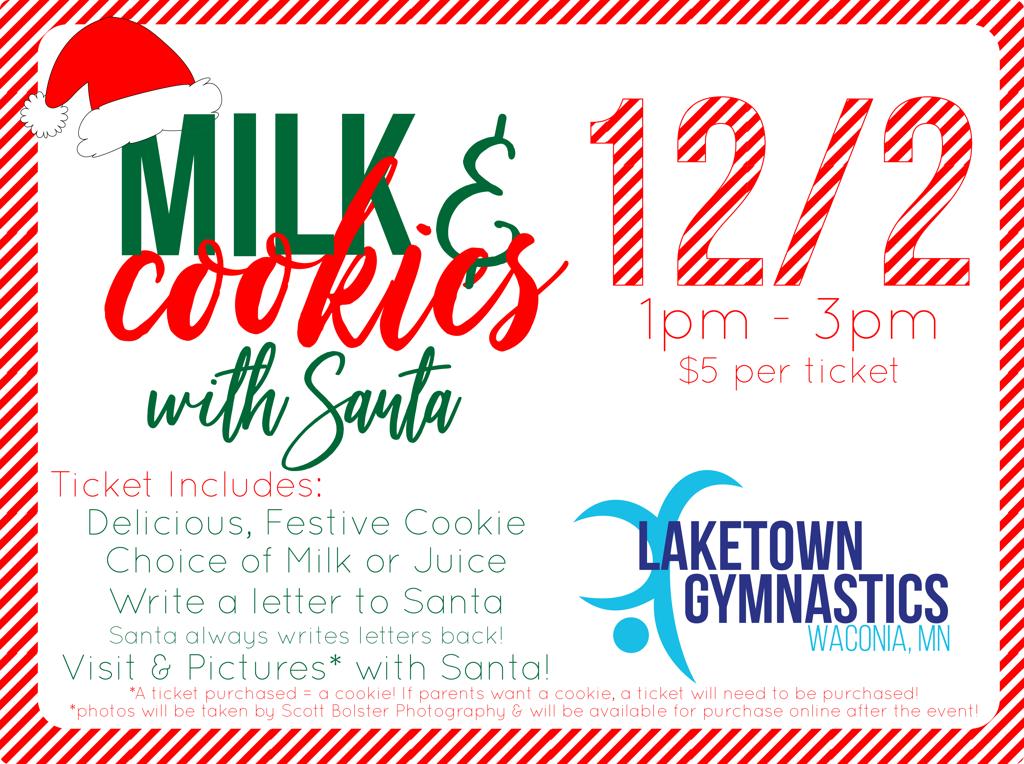 Milk Cookies With Santa