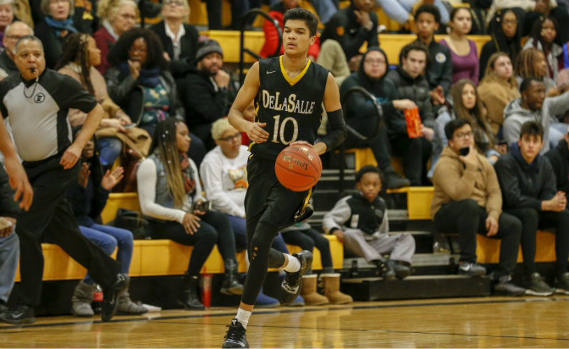 Tyrell Terry (pictured) is one of two DeLaSalle players selected to this year's McDonald Award semifinalist list. The finalists will be announced in early March. Photo by Jeff Lawler, SportsEngine