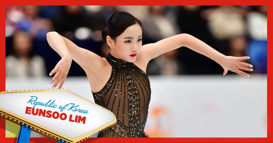 Skate America ladies competitor - Eunsoo Lim of Korea