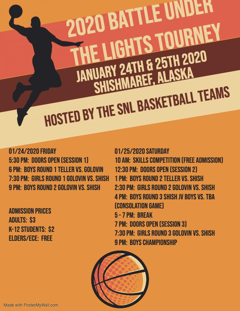 2020 Battle Under the Lights Basketball Tournament (Hosted by the SNL Girls & Boys Basketball Teams)