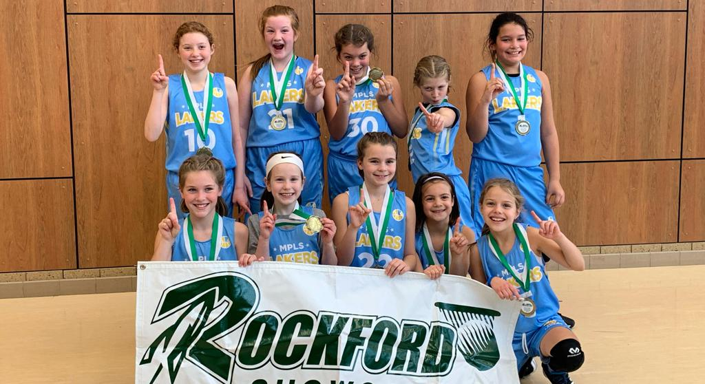Girls 5th Grade Gold take 1st Place at Rockford Showcase. Way to go Champs! #MplsLakers #MplsLakersBasketball