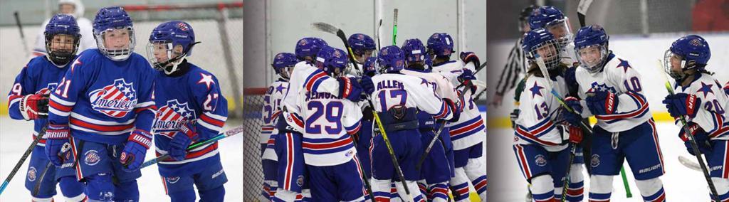 Junior Americans Celebrating Hockey Goals