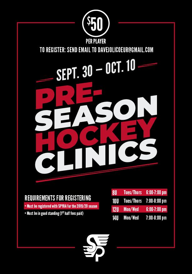 Sauk Prairie Flyers Pre-Season Clinics Sept. 30 - Oct. 10