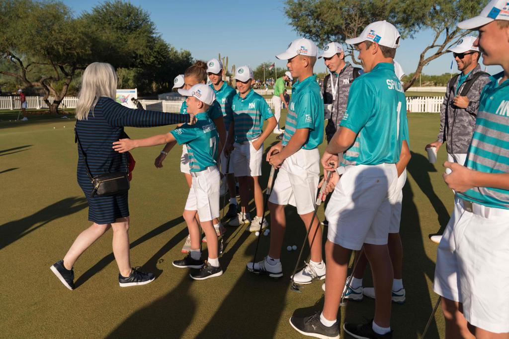 Jennifer Norman surprises Team Minnesota at the 2019 PGA Jr. League Championship presented by National Car Rental (Photo by Darren Carroll/PGA of America)