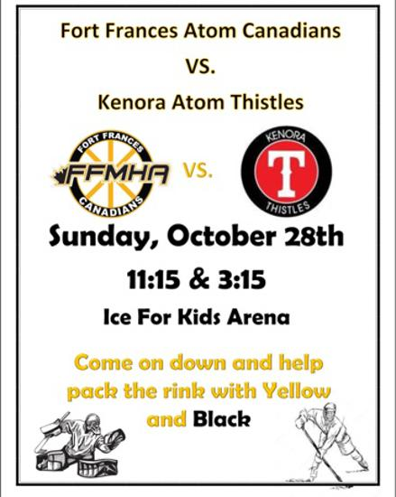COME OUT THIS SUNDAY AND SUPPORT THE ATOM AA CANADIANS!