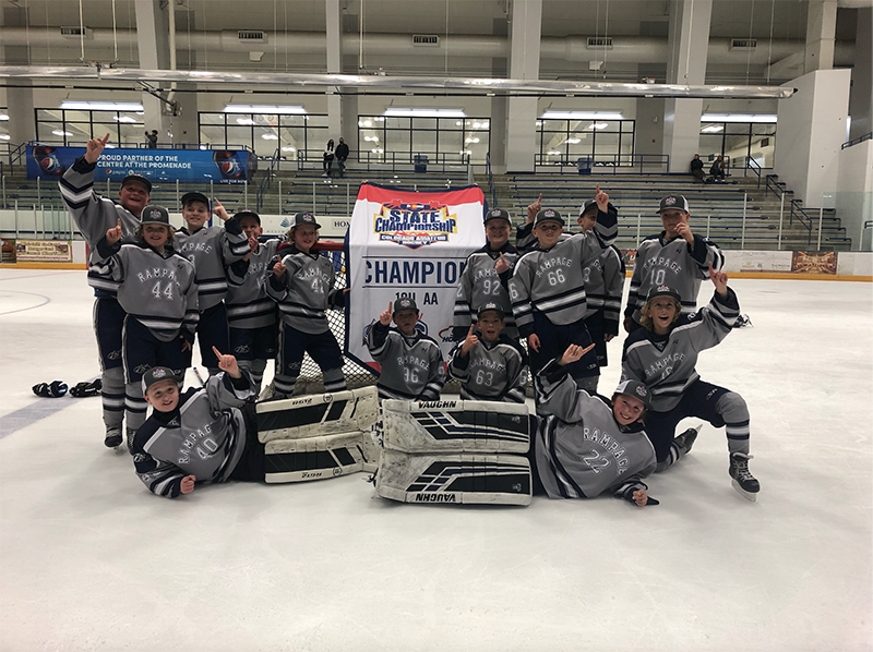 10U AA champion Colorado Rampage Hockey