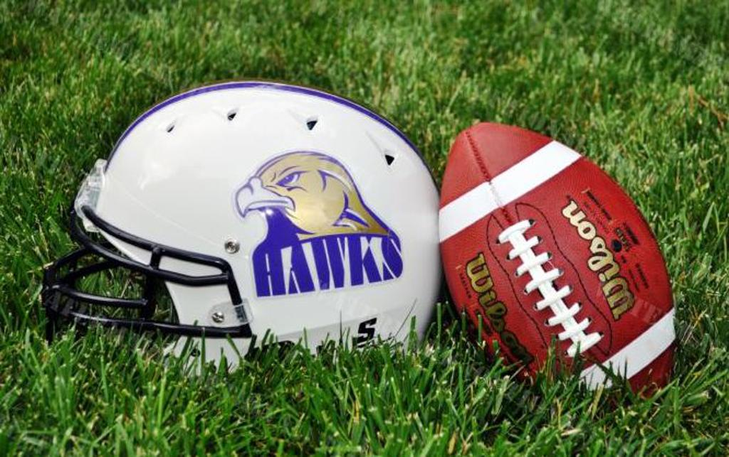 holly springs football helmet and football