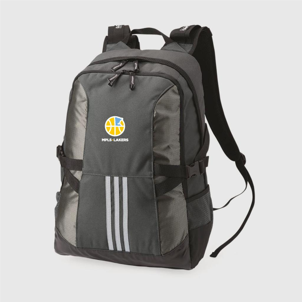 Black Adidas Backpack with embroidered Logo