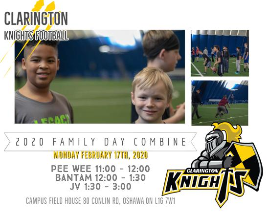 2020 Family Day Combine! February 17th @ Campus Field House!