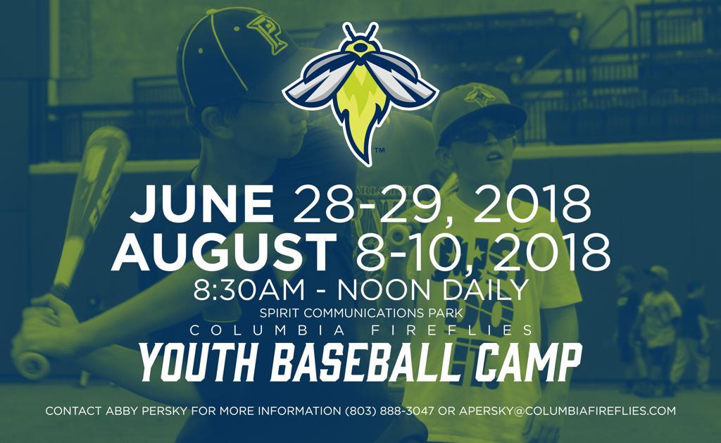 2018 Columbia Fireflies Summer Camps