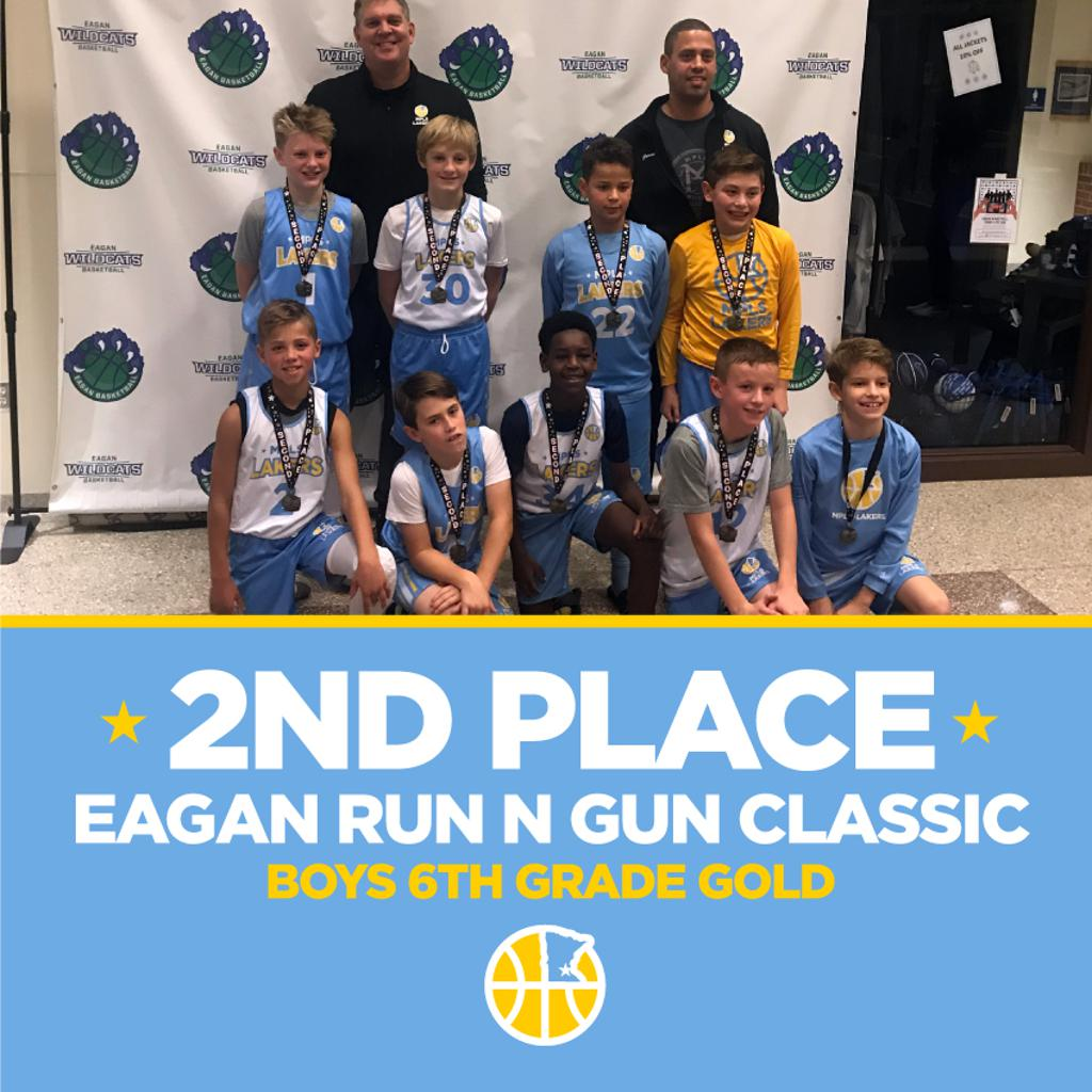 Boys 6th Grade Gold take 2nd Place at Eagan Run N Gun Classic. Way to go Lakers!