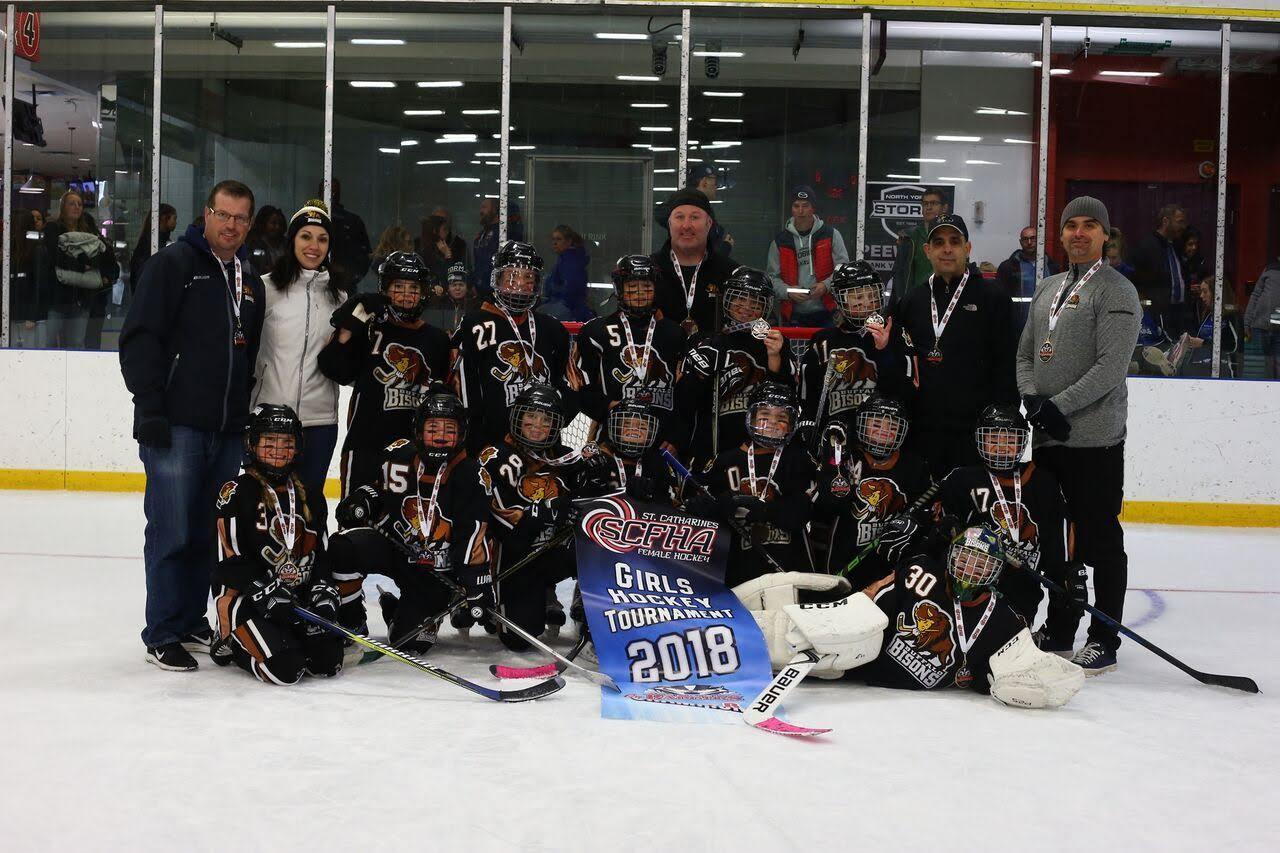 Bison Hockey 10U Girls win St Catharines tournament