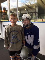 PJ and CHC Midget Dan McDonald together after the clinic